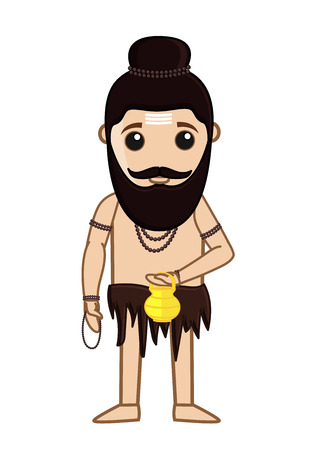 ashram: Maharishi Vishvamitra Vector Illustration Illustration