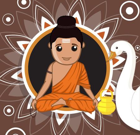 acharya: Gautam Buddha Cartoon Character