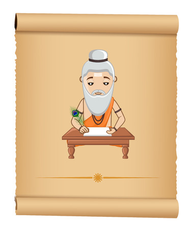 ashram: Maharishi Valmiki Vector Illustration