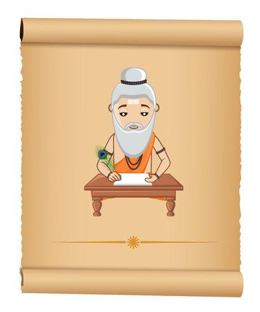 acharya: Maharishi Valmiki Vector Illustration