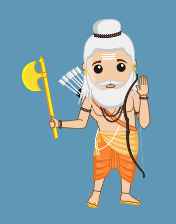 Parshuram - Indian Saint Character Illustration