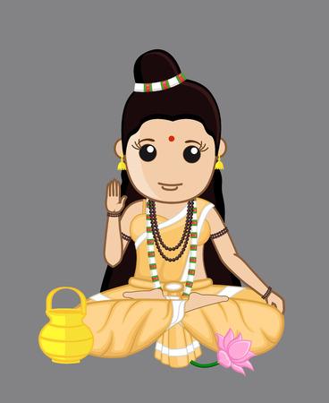 b�n�diction: Femme hindoue brahmane - B�n�diction Illustration