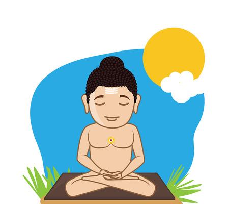 jainism: Lord Mahavira Concentrating