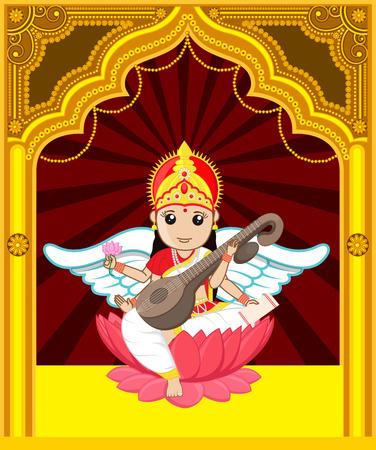 saraswati: Maa Saraswati - Indian Goddess Character