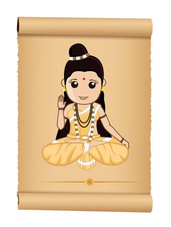 Sadhvi - Female Hindu Saint Ilustração