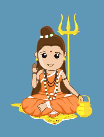 Blessing Sadhvi Character - Hindu Ilustração