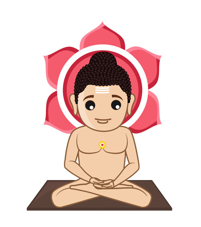 jainism: Lord Mahavira Cartoon God