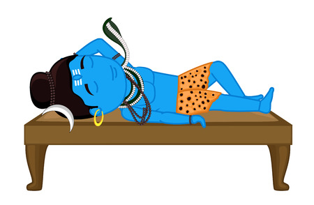 shankar: Sleeping Mythological - Lord Shiva Illustration