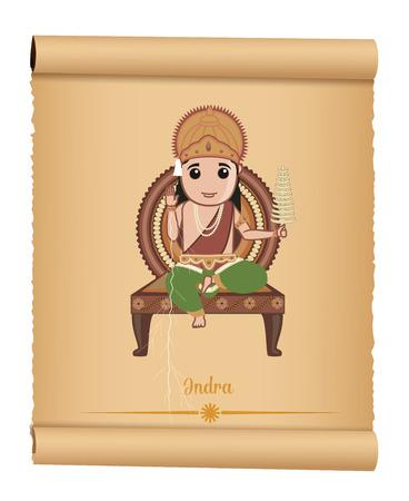 hindu goddess: Indian Hindu Mythological Goddess Indra