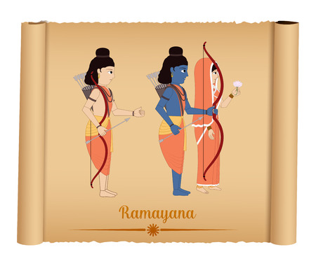 sita: Ramayana - Shri Rama with Sita and Laxmana