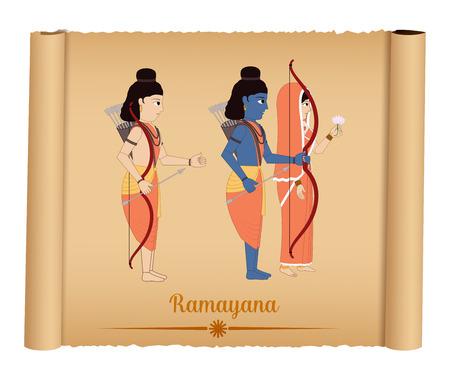 god: Ramayana - Shri Rama with Sita and Laxmana