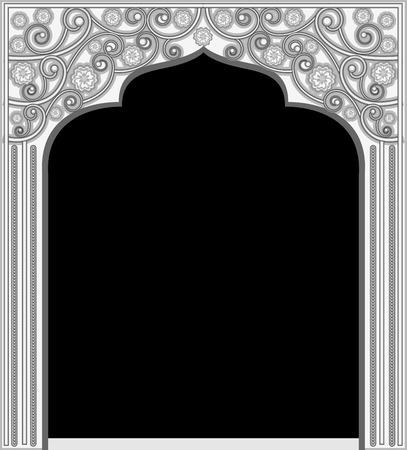 castle door: Silver Decorative Frame Illustration