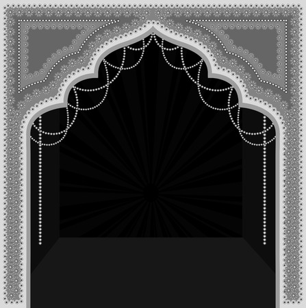mythological: Decor Indian Mythological Frame Vector