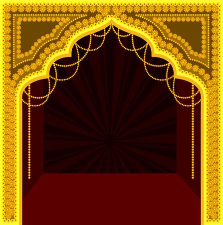 Decorative Royal Temple Frame Design