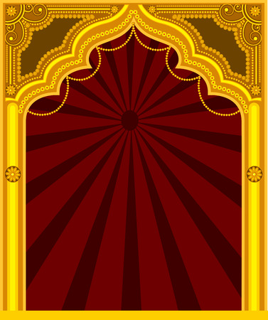 Decorative Golden Frame - Arab Mythological
