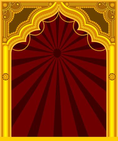 castle door: Decorative Golden Frame - Arab Mythological
