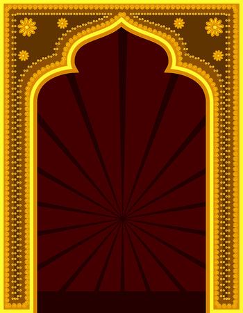 india culture: Golden Mythological Retro Frame