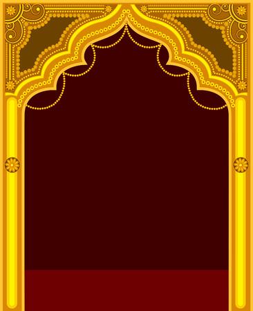 portones: Marco de oro del templo Puerta