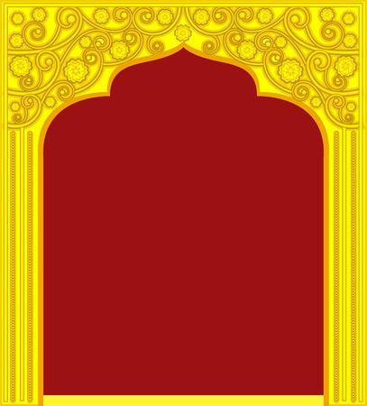 Golden Royal Door Frame Illustration