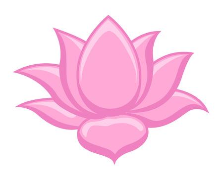 silhouette fleur: Lotus Flower Clip