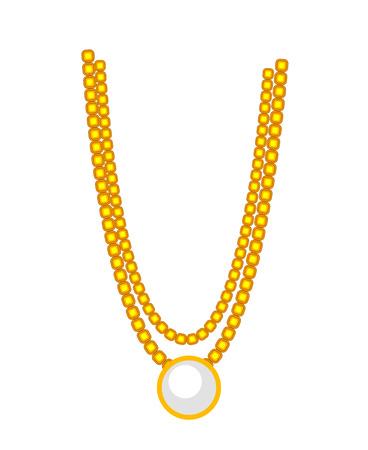 Hindu Golden Necklace Imagens - 41847551