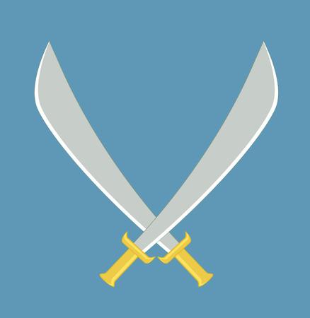crossed swords: Crossed Swords vectorial