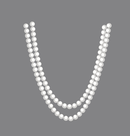 pearl jewelry: Pearls Necklace clipart