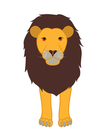 endangered: Cartoon Lion