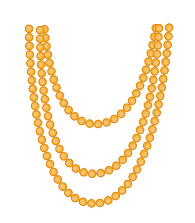 Retro Beads Necklace Clipart