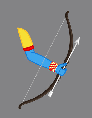 Bow Arrow Vector - Hindu Mythological Weapon Illustration