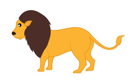 endangered: Cartoon Wild Lion