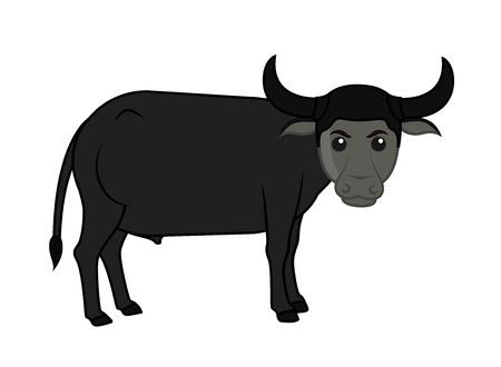 endangered species: Cartoon Buffalo