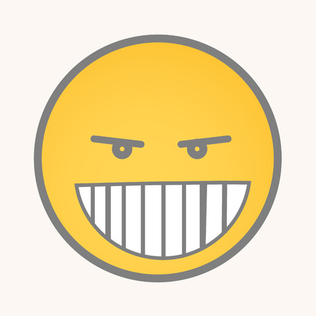 smiley: Clever - Cartoon Smiley Vector Face Illustration