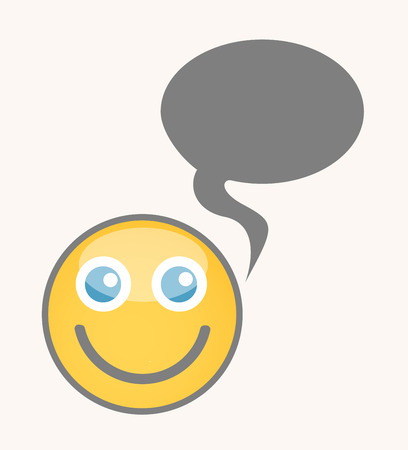 cuteness: Happy Chat - Cartoon Smiley Vector Face Illustration