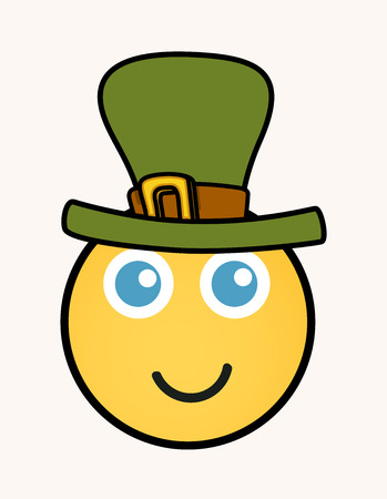 17th of march: Leprechaun - Cartoon Smiley Vector Face