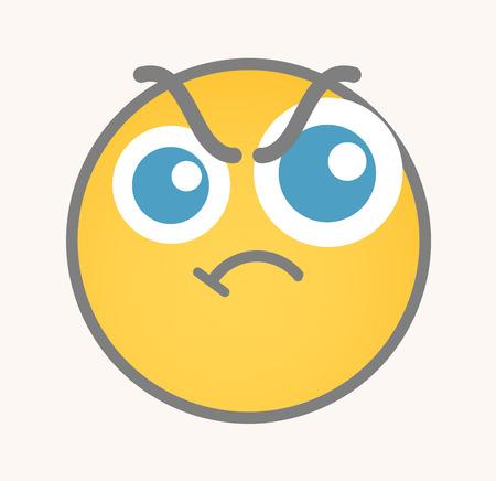 angry smiley face: Aggression - Cartoon Smiley Vector Face
