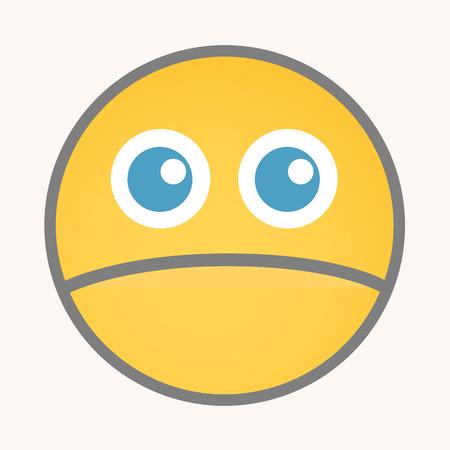 innocent: Innocent - Cartoon Smiley Vector Face