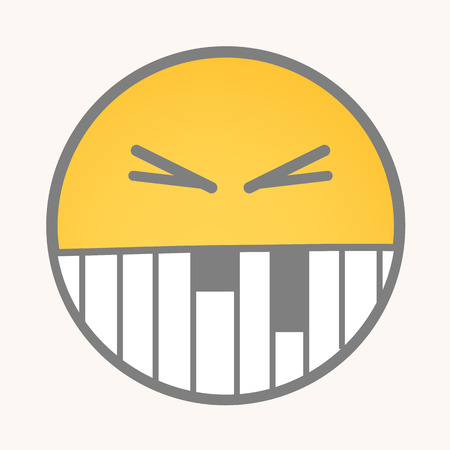 irritate: Irritate - Cartoon Smiley Vector Face