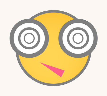 Hypnotized - Cartoon Smiley Vector Face