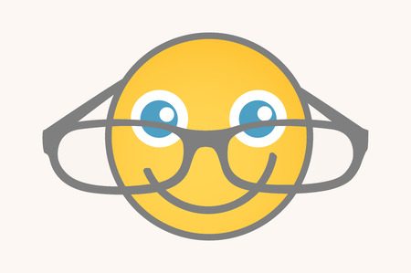 eyewear: Eyewear - Cartoon Smiley Vector Face