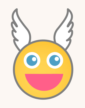 happy face: Cupid - Cartoon Smiley Vector Face