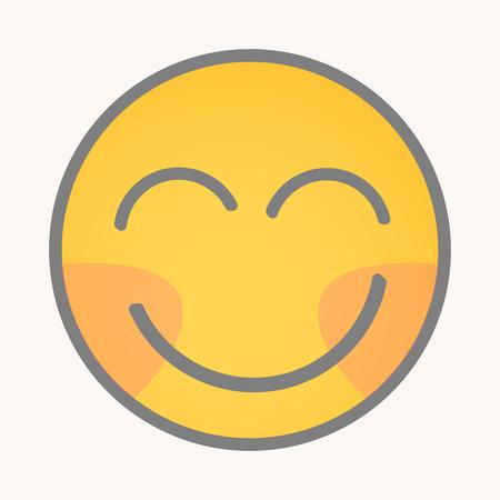 blushing: Blushing - Cartoon Smiley Vector Face