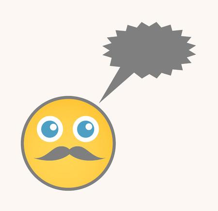 Chatting - Cartoon Smiley Vector Face
