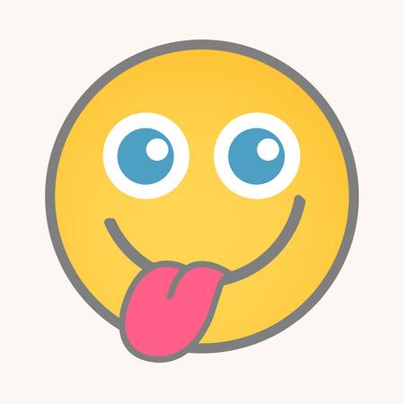 teasing: Teasing - Cartoon Smiley Vector Face Illustration