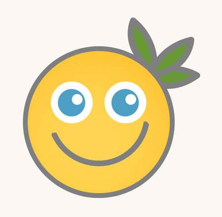 happy face: Blissful - Cartoon Smiley Vector Face