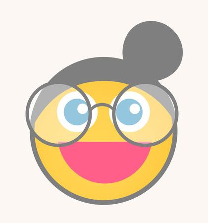 optimistic: Optimistic - Cartoon Smiley Vector Face