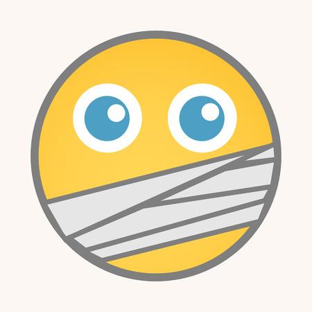 noiseless: Captive - Cartoon Smiley Vector Face Illustration