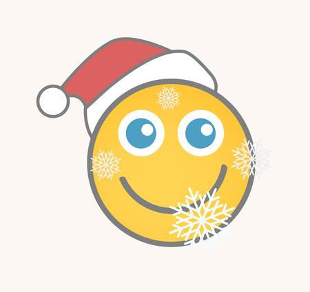 carita feliz caricatura: Papá - Cara de dibujos animados sonriente del vector