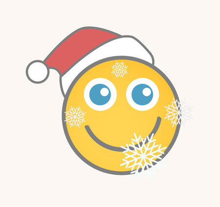smiley: Santa - Cartoon Smiley Vector Face
