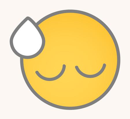 tiredness: Upset - Cartoon Smiley Vector Face